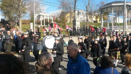Remembrance Day ceremony in Lunenburg, 2016