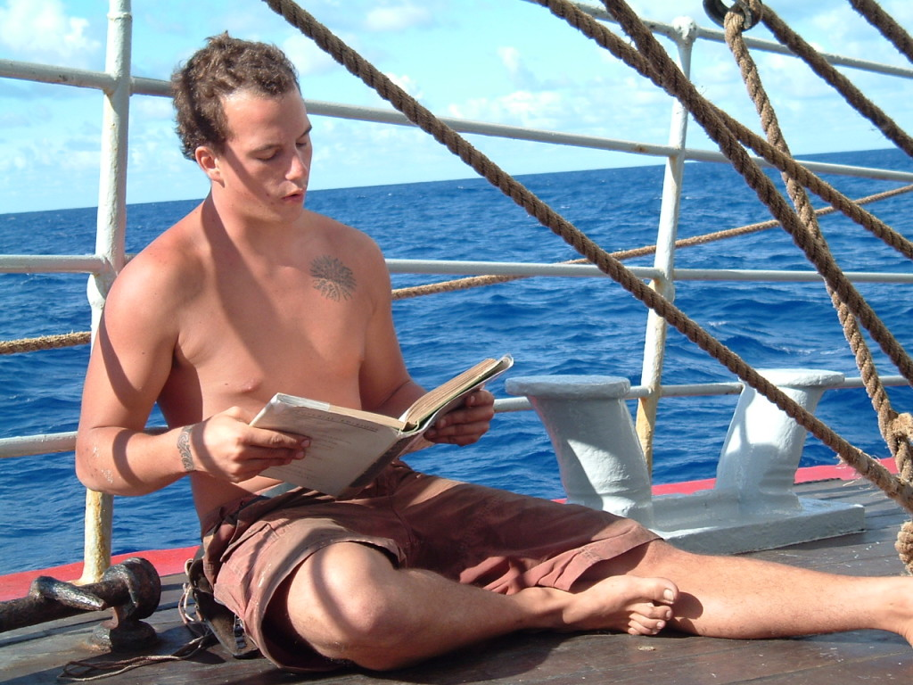 Reading on a Sunday afternoon (earlier voyage)
