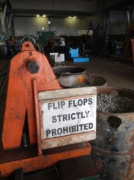 Flip flops strictly prohibited