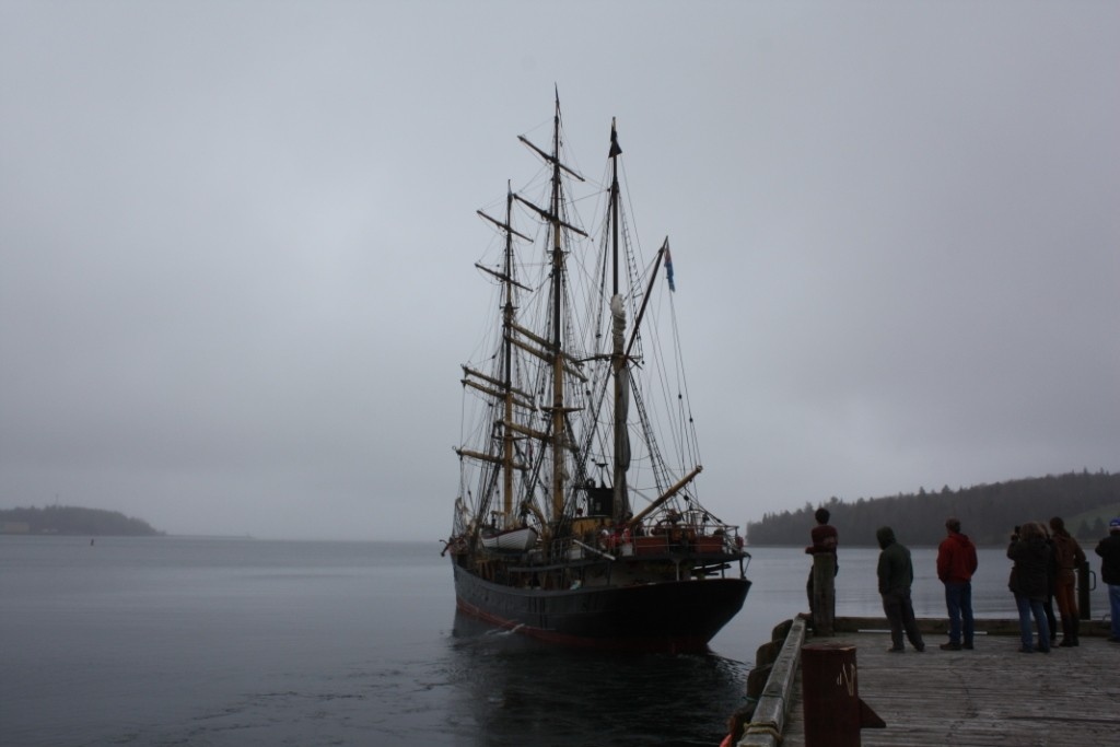 Picton Castle departs Lunenburg 5 May 2016