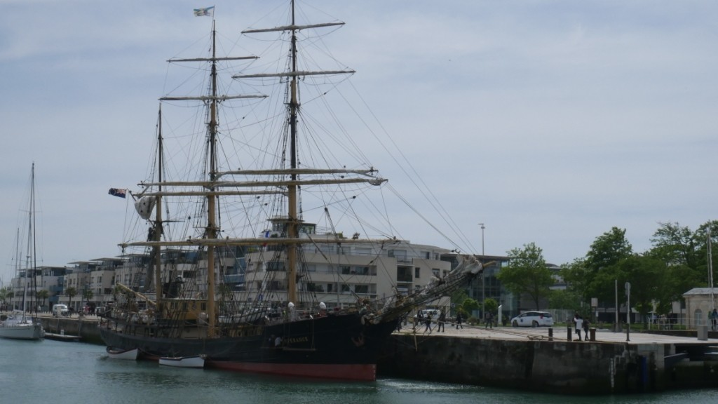 Picton Castle alongside in La Rochelle
