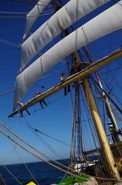 Stowing the mainsail